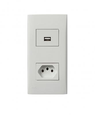 Carregador USB + Tomada Iriel – 10A
