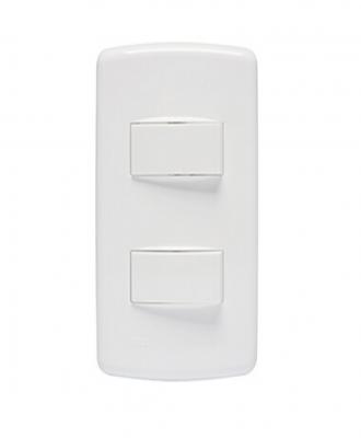Dois interruptores simples Duale Up Iriel 10A