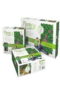 Jardim vertical em feltro Plante e Cuide – 4 nichos