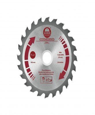 Serra circular vídea Worker- 4 3/8 24DTS 20mm