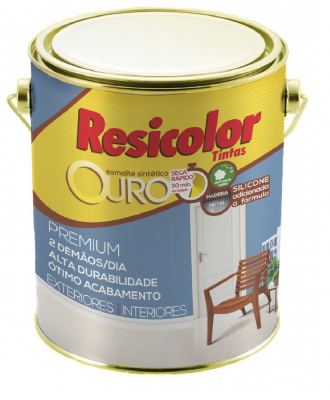 Esmalte Sintético Resicolor – Grafite Escuro Fosco 900ml