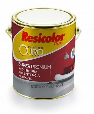 Tinta Acrílico Ouro Branco Acetinado Resicolor – 3,6L