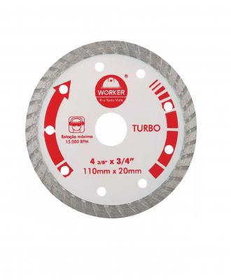 Disco Diamantado Turbo Worker – 110x20mm
