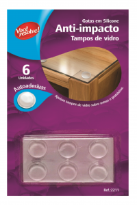 Gotas de Silicone Anti-Impacto para Tampos de Vidro – 6 unidades