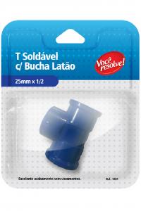 T Soldável com Bucha Latão – 25×1/2″