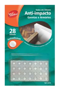 Gotas de Silicone Anti-Impacto para Gavetas e Armários – 28 unidades
